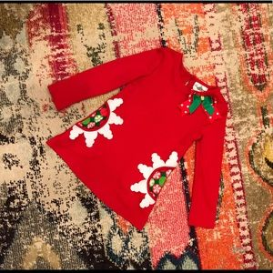 Girls Red Holiday/Christmas Top - Size 5T